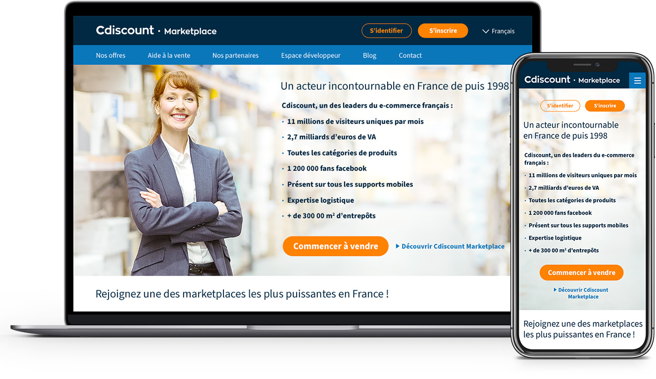 Cdiscount marketplace - Page d'accueil